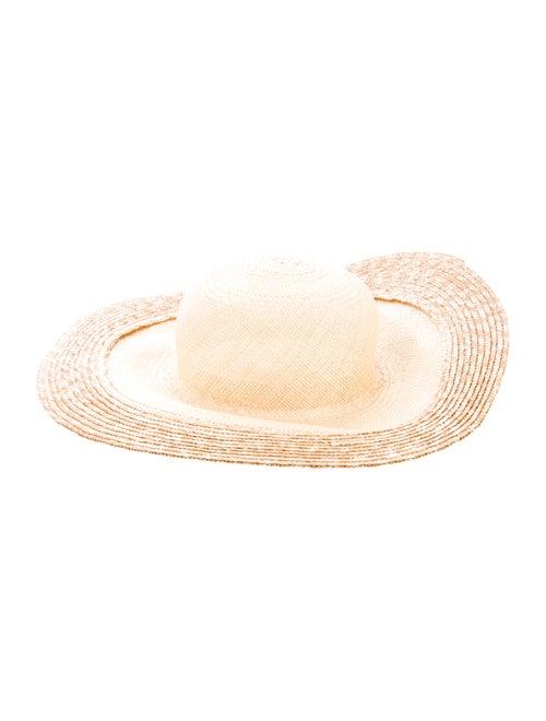 Clyde Straw Wide Brim Hat w/ Tags Tan
