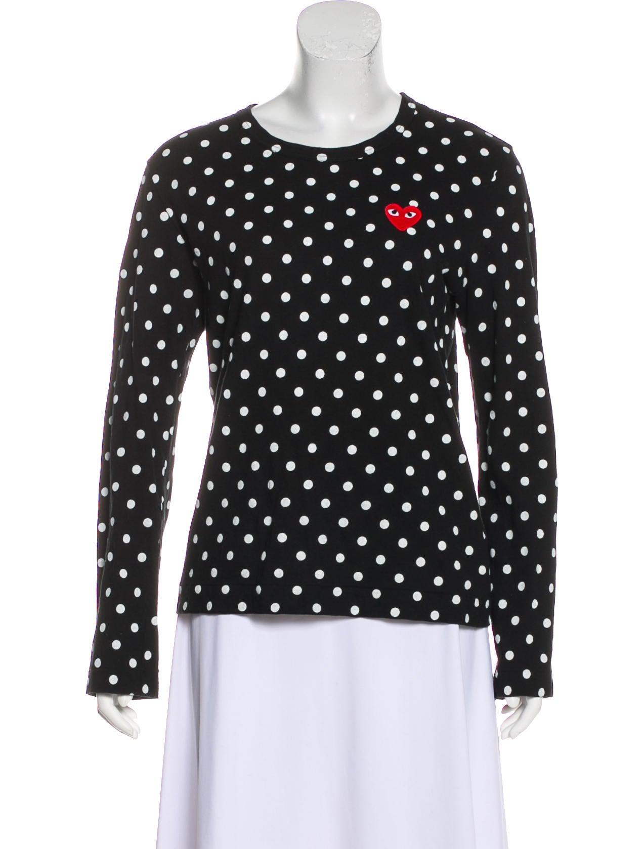 9f6cf3846ec Comme des Garçons Play Polka Dot Appliqué T-Shirt - Clothing ...