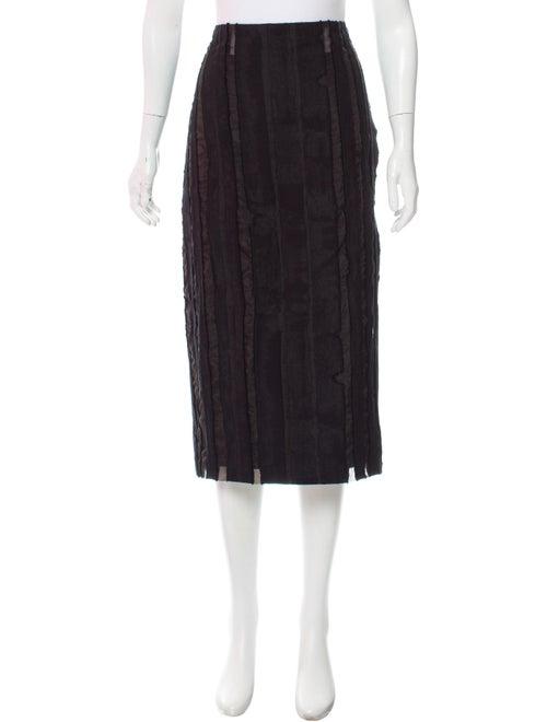 Jonathan Cohen Fil-Coupé Midi Skirt w/ Tags Black