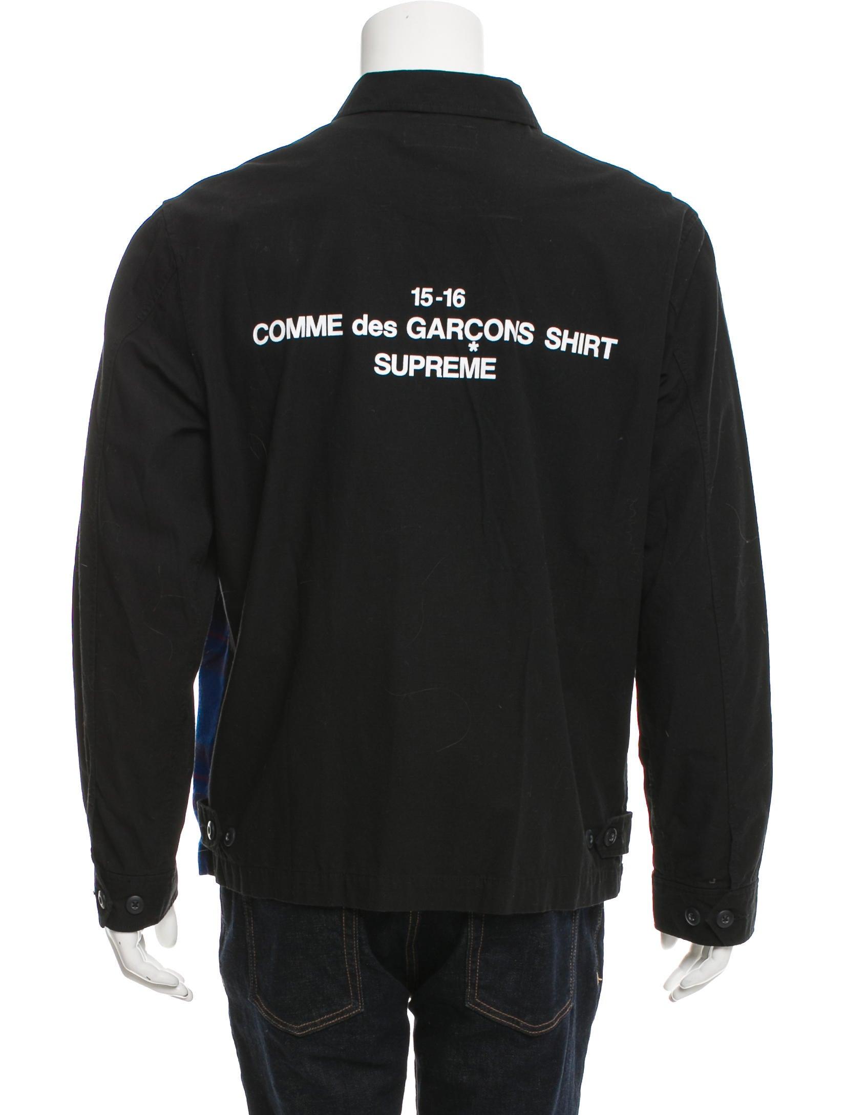 comme des gar ons x supreme 2015 shirt jacket clothing. Black Bedroom Furniture Sets. Home Design Ideas