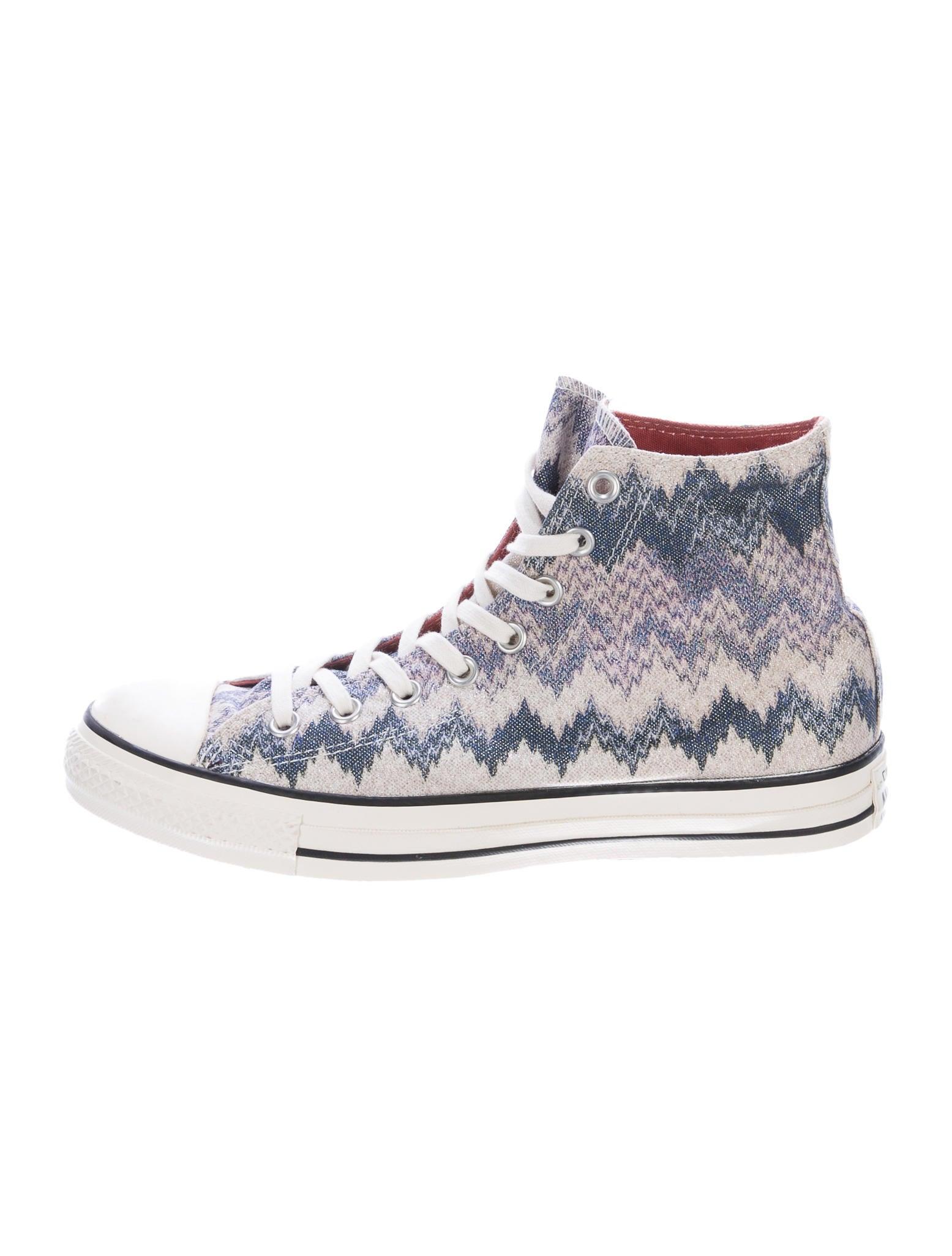 missoni x converse chevron high top sneakers shoes