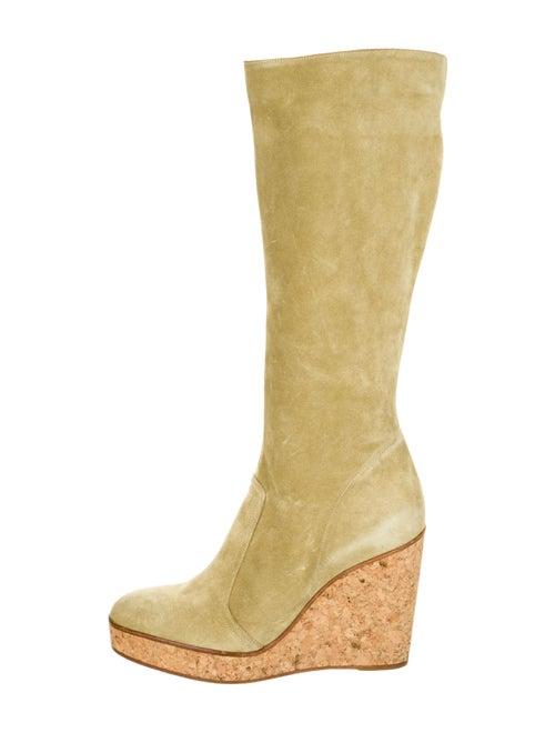Co-Op Suede Boots Green