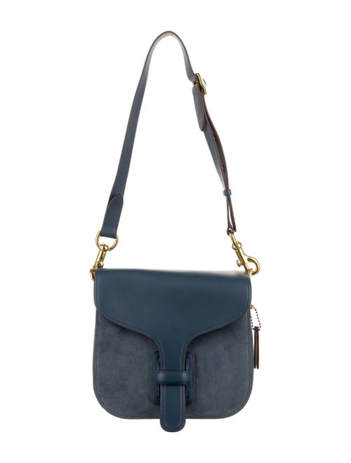Coach x Rodarte Leather Courier Bag Blue