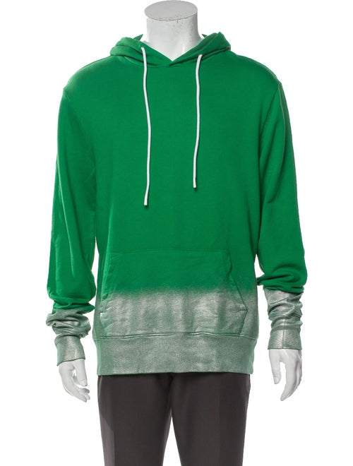 Cotton Citizen Printed V-Neck Hoodie Green