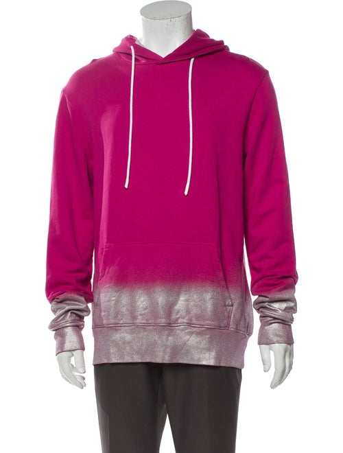 Cotton Citizen Printed V-Neck Hoodie Pink