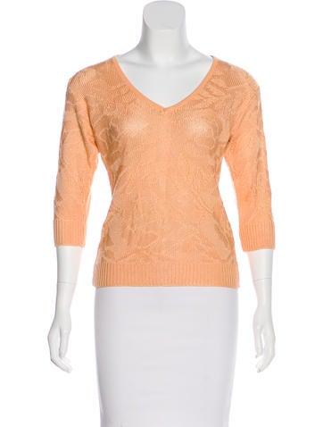 Courrèges Knit V-Neck Sweater None