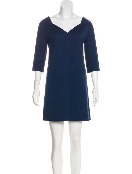 Courrèges Jacquard Mini Dress Navy