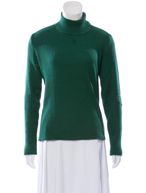Courrèges Turtleneck Sweater Green