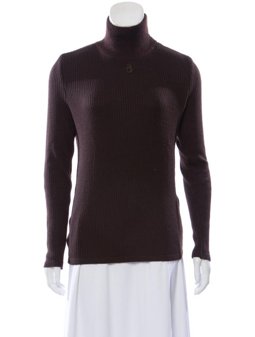 Courrèges Turtleneck Sweater Brown