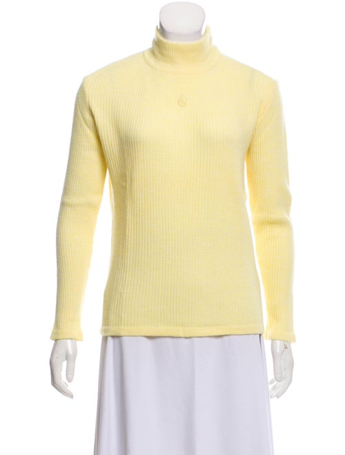Courrèges Turtleneck Sweater Yellow