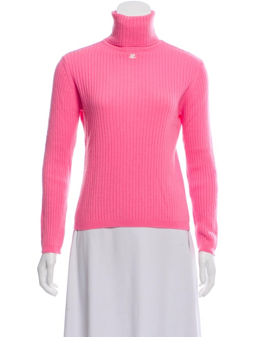 Courrèges Turtleneck Sweater Pink