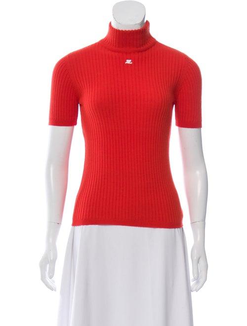 Courrèges Turtleneck Sweater Orange