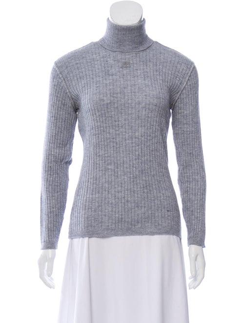 Courrèges Turtleneck Sweater Grey