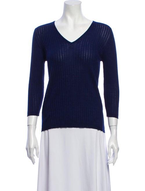 Courrèges V-Neck Sweater Blue