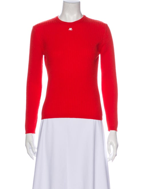 Courrèges Crew Neck Sweater Red