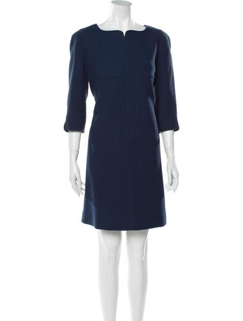 Courrèges Bateau Neckline Mini Dress Blue