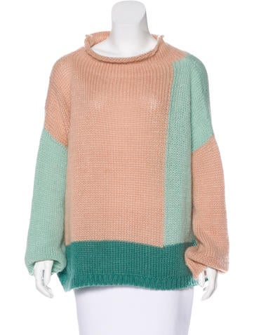Collection Privée? Colorblock Mohair Sweater w/ Tags None