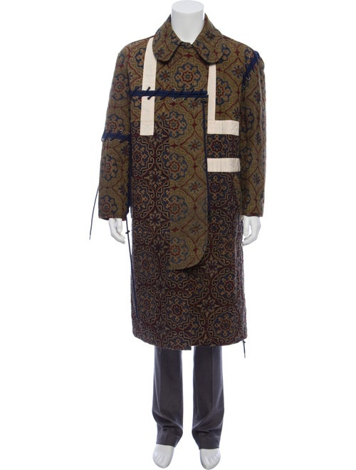 Craig Green Printed Quilted Coat olive
