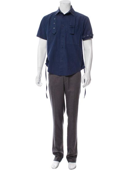 Craig Green 2017 Belt-Accented Button-Up Shirt Gre