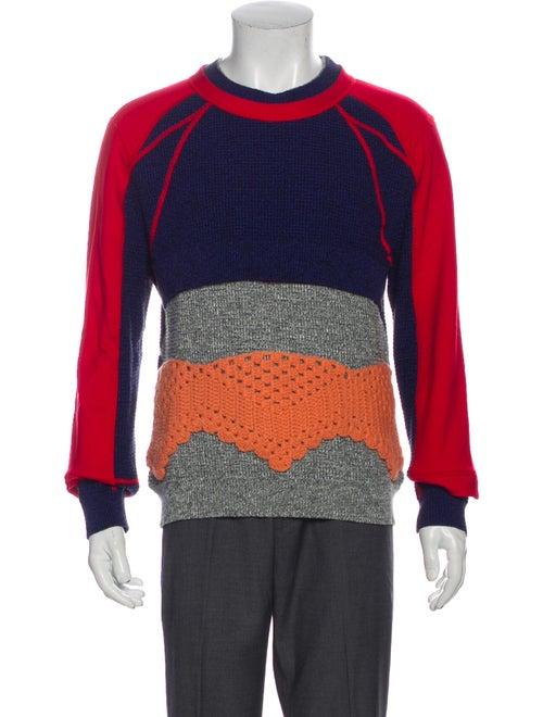 Craig Green Colorblock Pattern Crew Neck Pullover