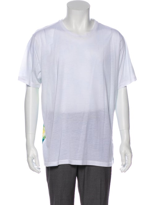 Craig Green Tie-Dye Print Crew Neck T-Shirt Green