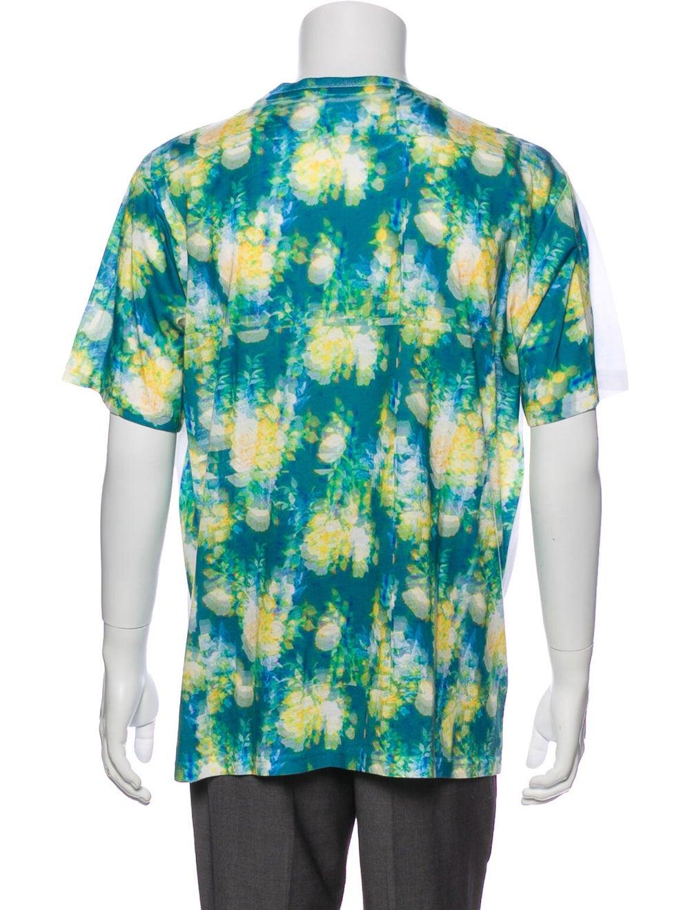 Craig Green Tie-Dye Print Crew Neck T-Shirt Green - image 3
