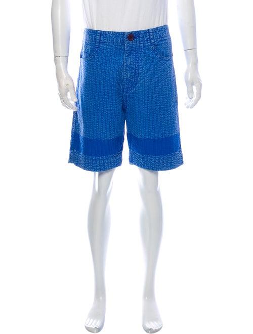 Craig Green Printed Flat Front Shorts Green