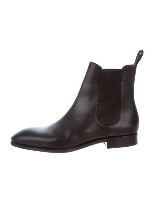 Carmina Leather Chelsea Boots Black