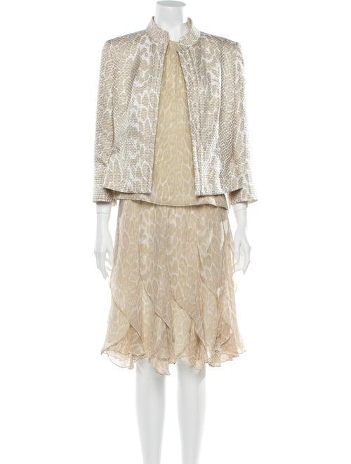 Carlisle Silk Animal Print Skirt Suit