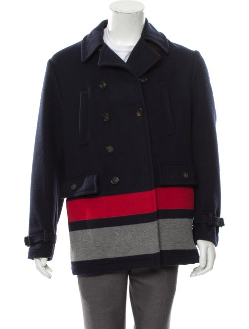 Cremieux Wool Double-Breasted Peacoat navy