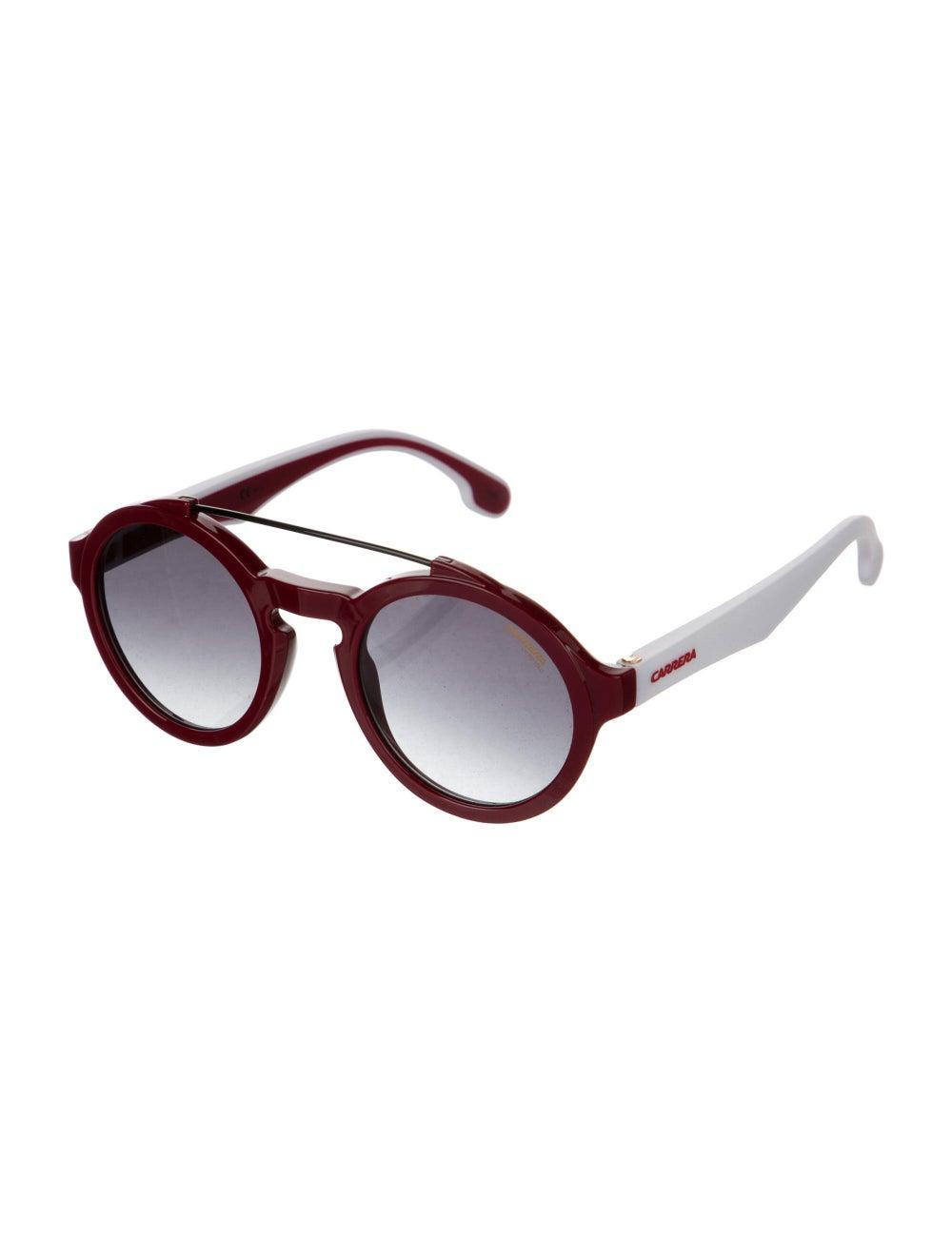 Carrera Round Gradient Round Sunglasses Red - image 2
