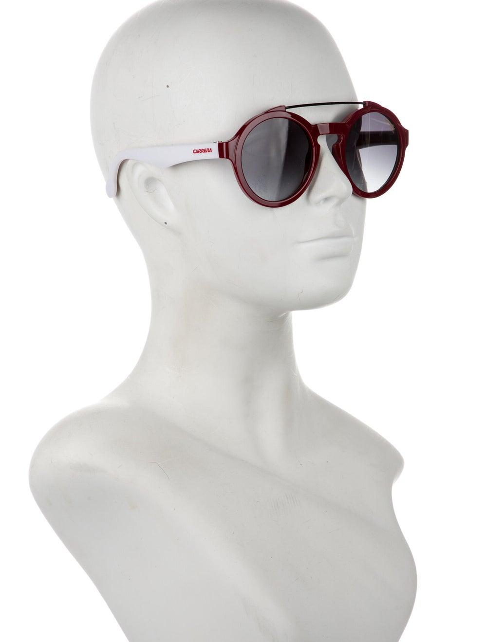 Carrera Round Gradient Round Sunglasses Red - image 4
