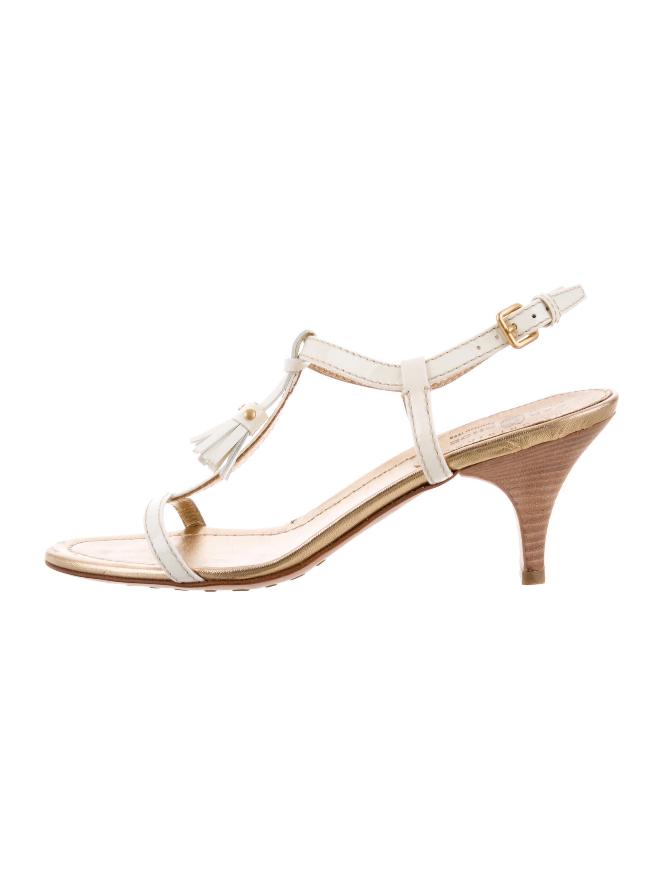 Car Shoe Tassel-Embellished Patent Leather Sandals cheap sale shopping online cheap fashion Style cheap huge surprise clearance with paypal b4YA7QH5Z