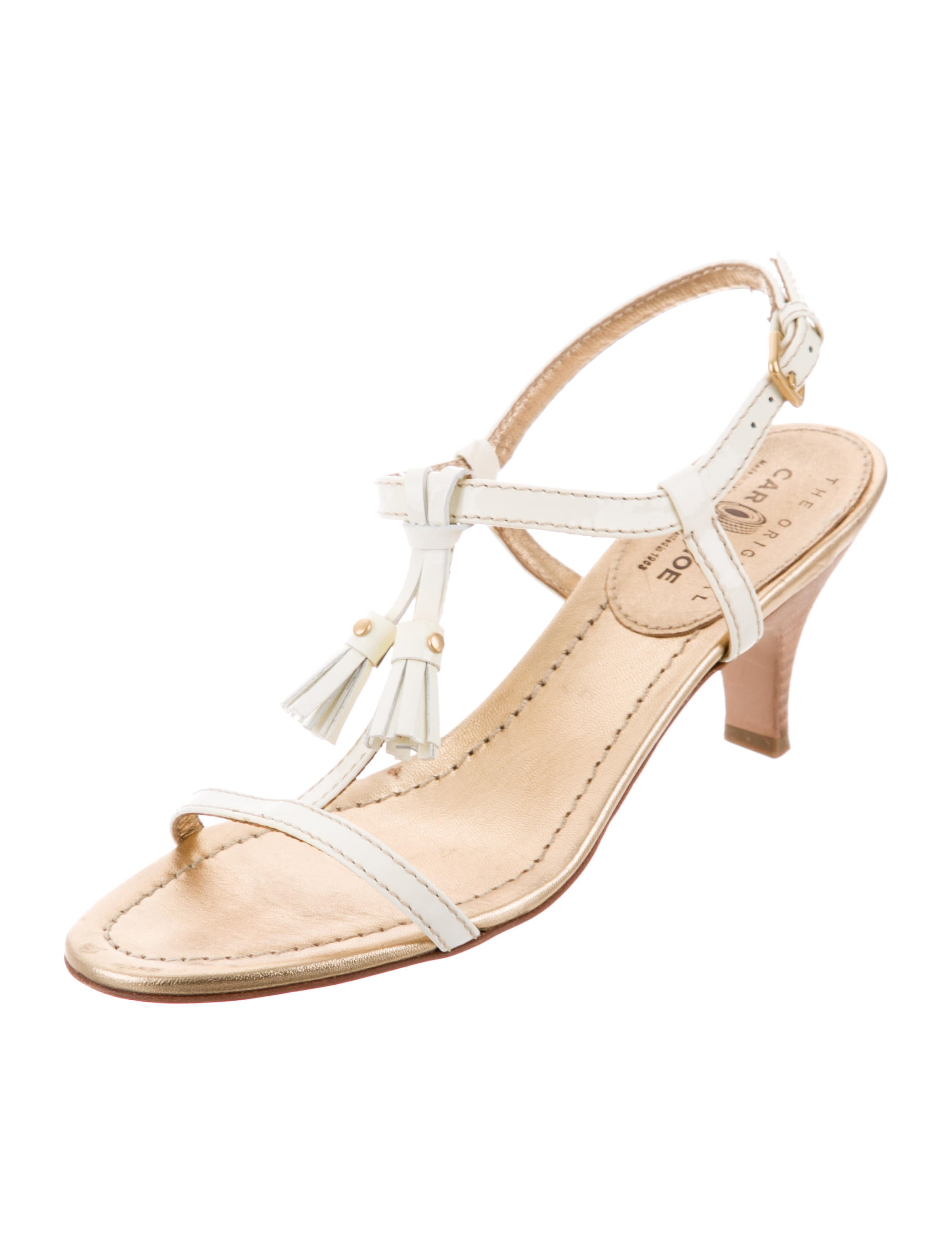 Car Shoe Tassel-Embellished Patent Leather Sandals countdown package sale online affordable sale online cheap sale buy authentic really cheap online FBlvI