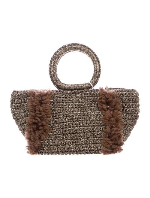 Carolina Santo Domingo Metallic Crochet Tote w/ Ta