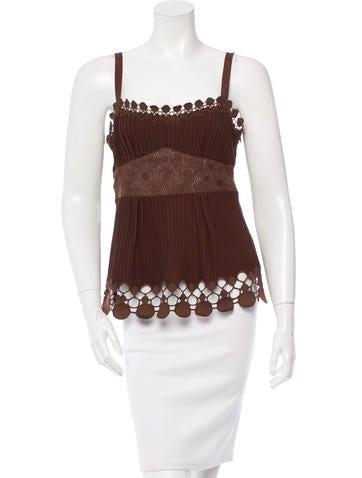 Catherine Malandrino Sleeveless Knit Top None