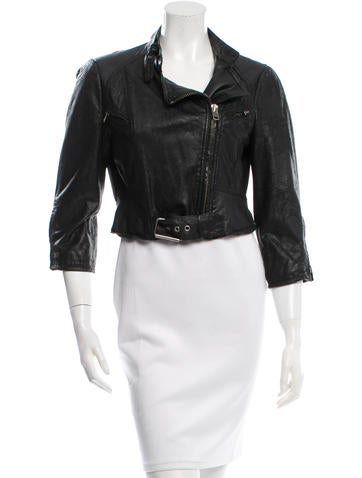 Catherine Malandrino Leather Moto Jacket None