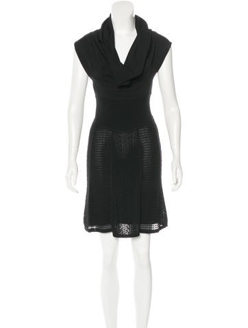 Catherine Malandrino Cowl Neck Mini Dress None