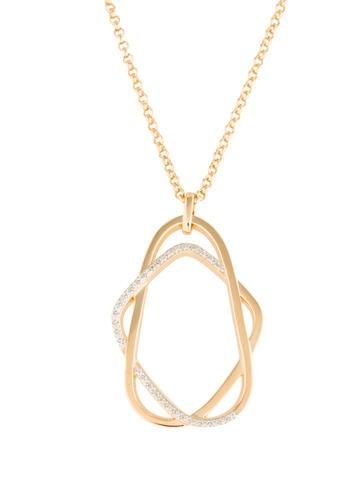 Catherine Malandrino Diamond Interlace Pendant Necklace None