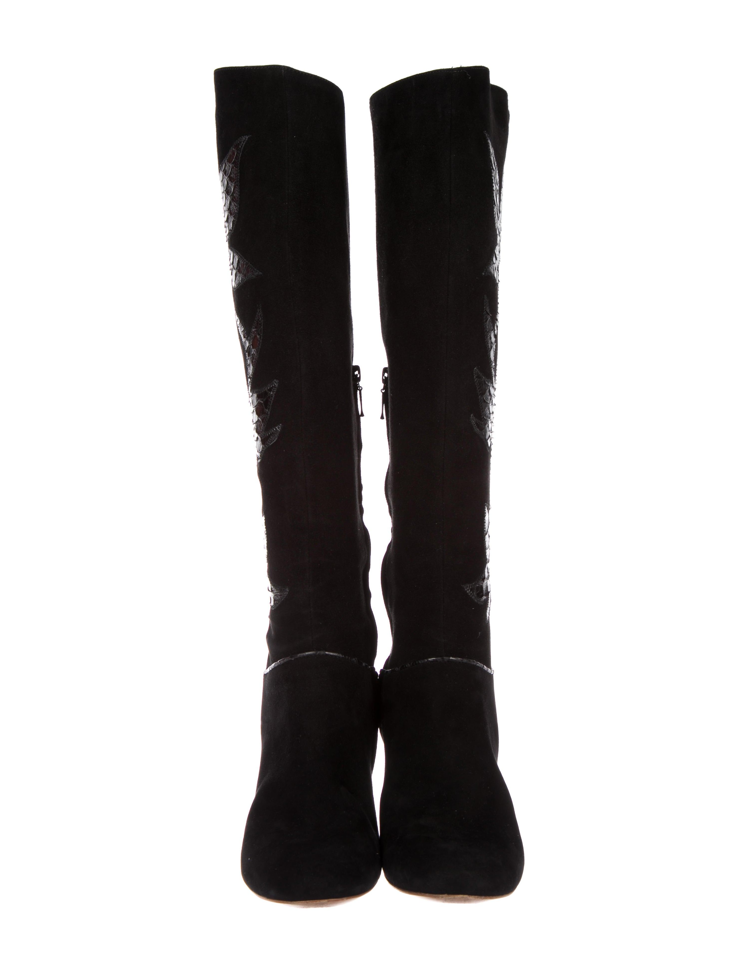 best seller sale online Catherine Malandrino Python-Applique Knee-High Boots discount brand new unisex amazon sale online LLdLy4D