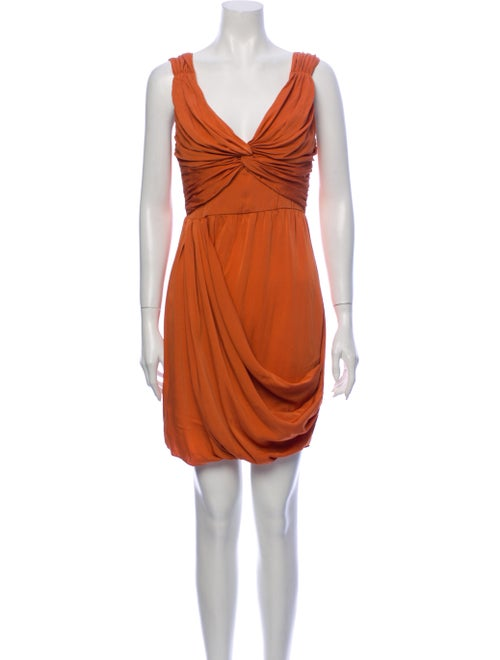 Catherine Malandrino Silk Mini Dress Orange