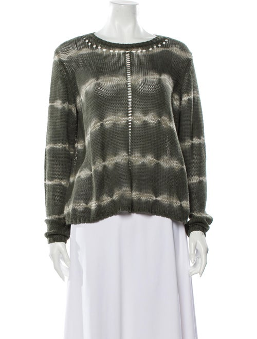 Cotton by Cashmere Tie-Dye Print Scoop Neck Sweate