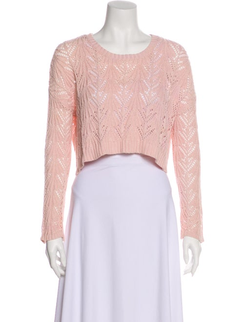 Cotton by Cashmere Scoop Neck Sweater Pink