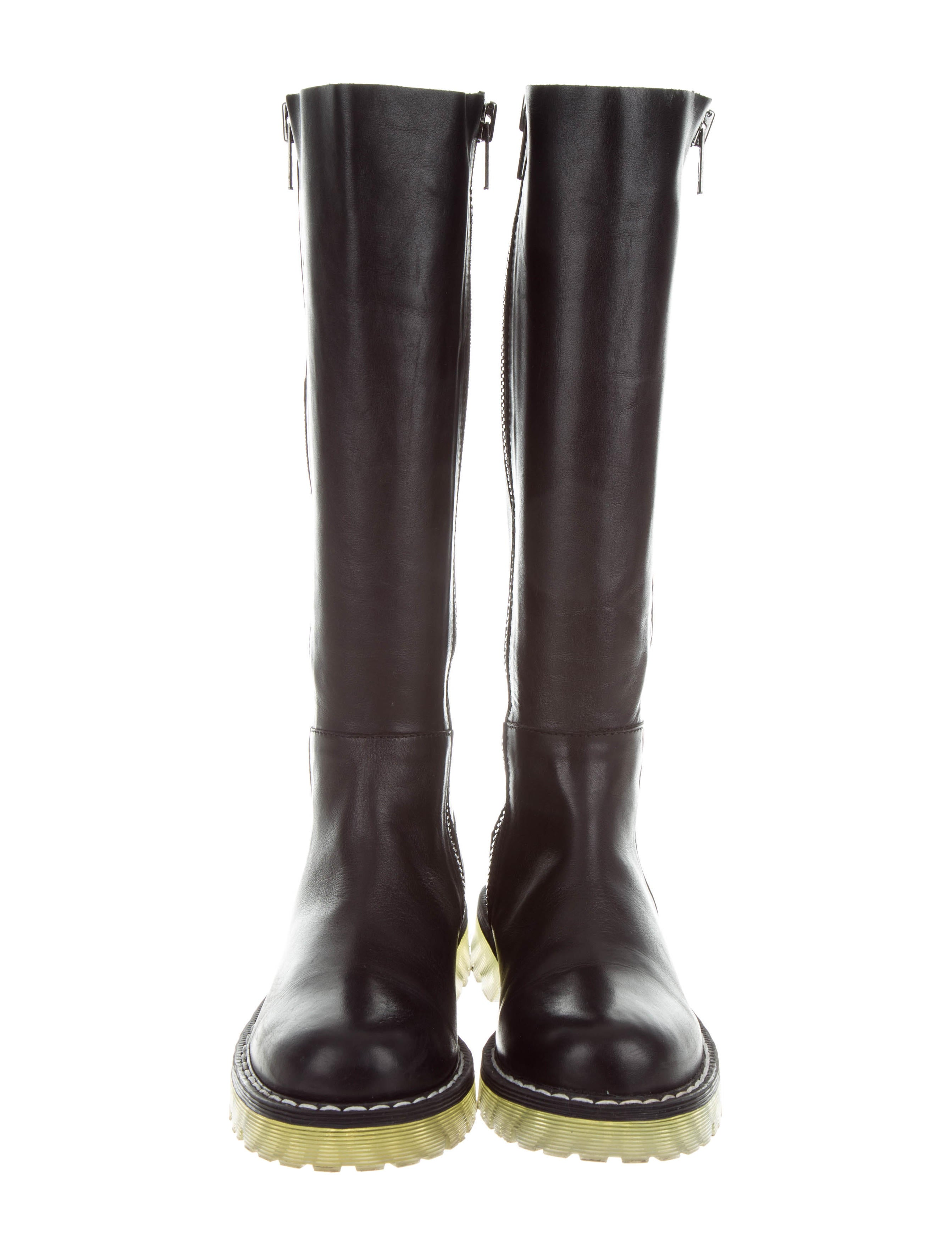Cotélac Leather Knee-High Boots cheap 2014 new hot sale new arrival cheap price sale under $60 Ksh4K0yp6w