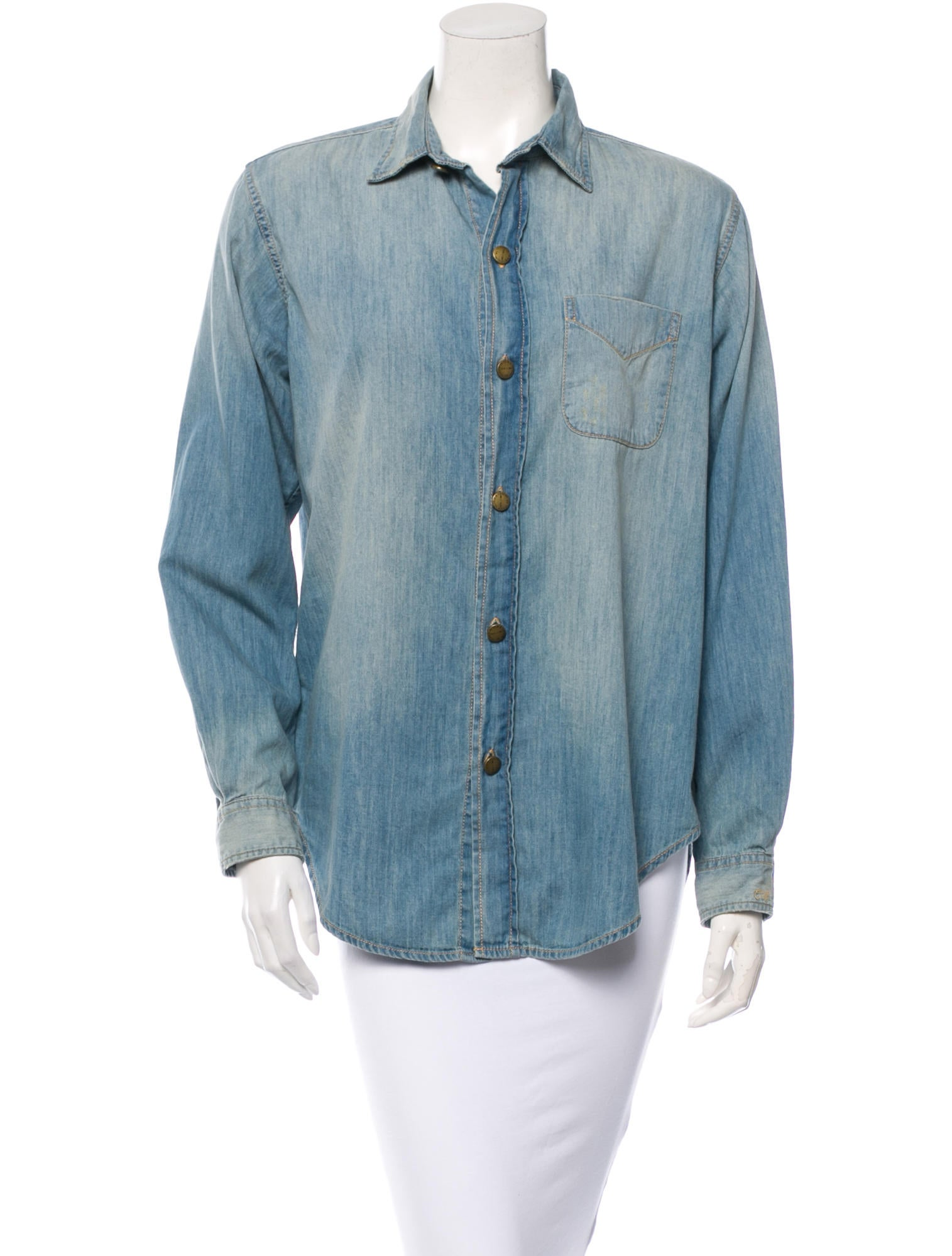 Current elliott chambray top clothing wcu23937 the for Chambray top