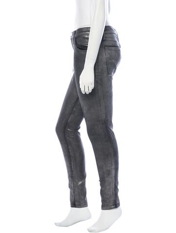 Metallic The Ankle Skinny Jeans w/ Tags