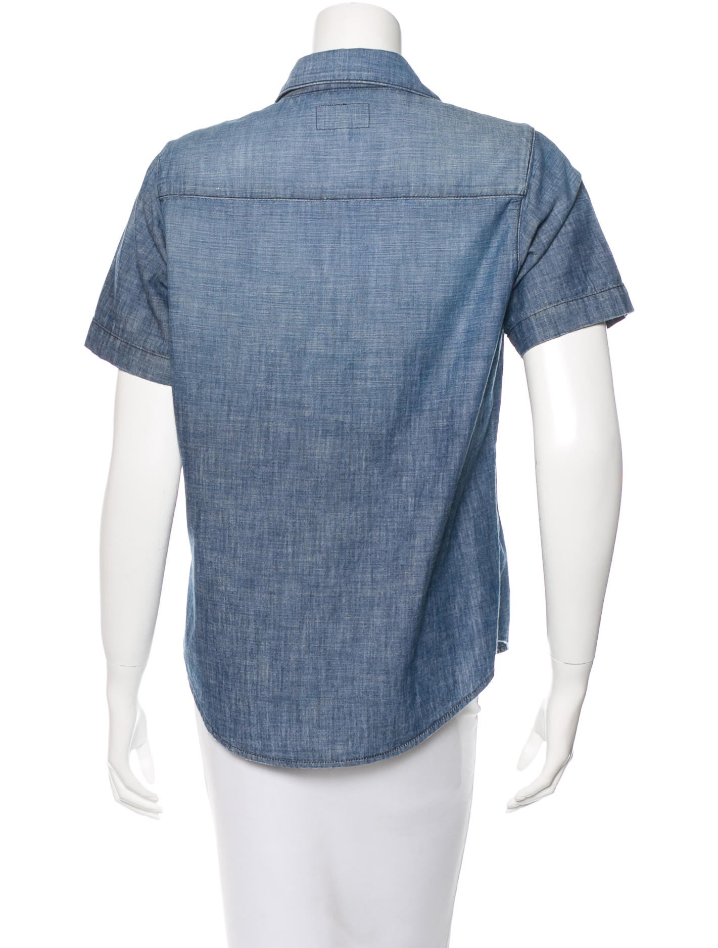 Current elliott short sleeve chambray top clothing for Chambray top