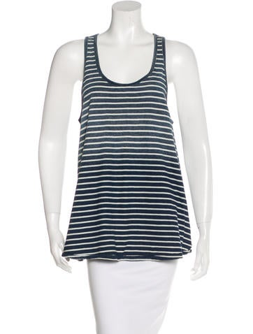 Current/Elliott Striped Ombré Top None