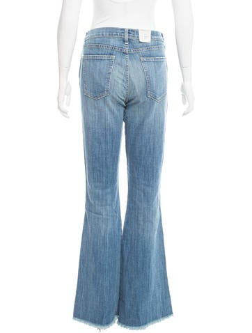 Flared Mid-Rise Jeans w/ Tags