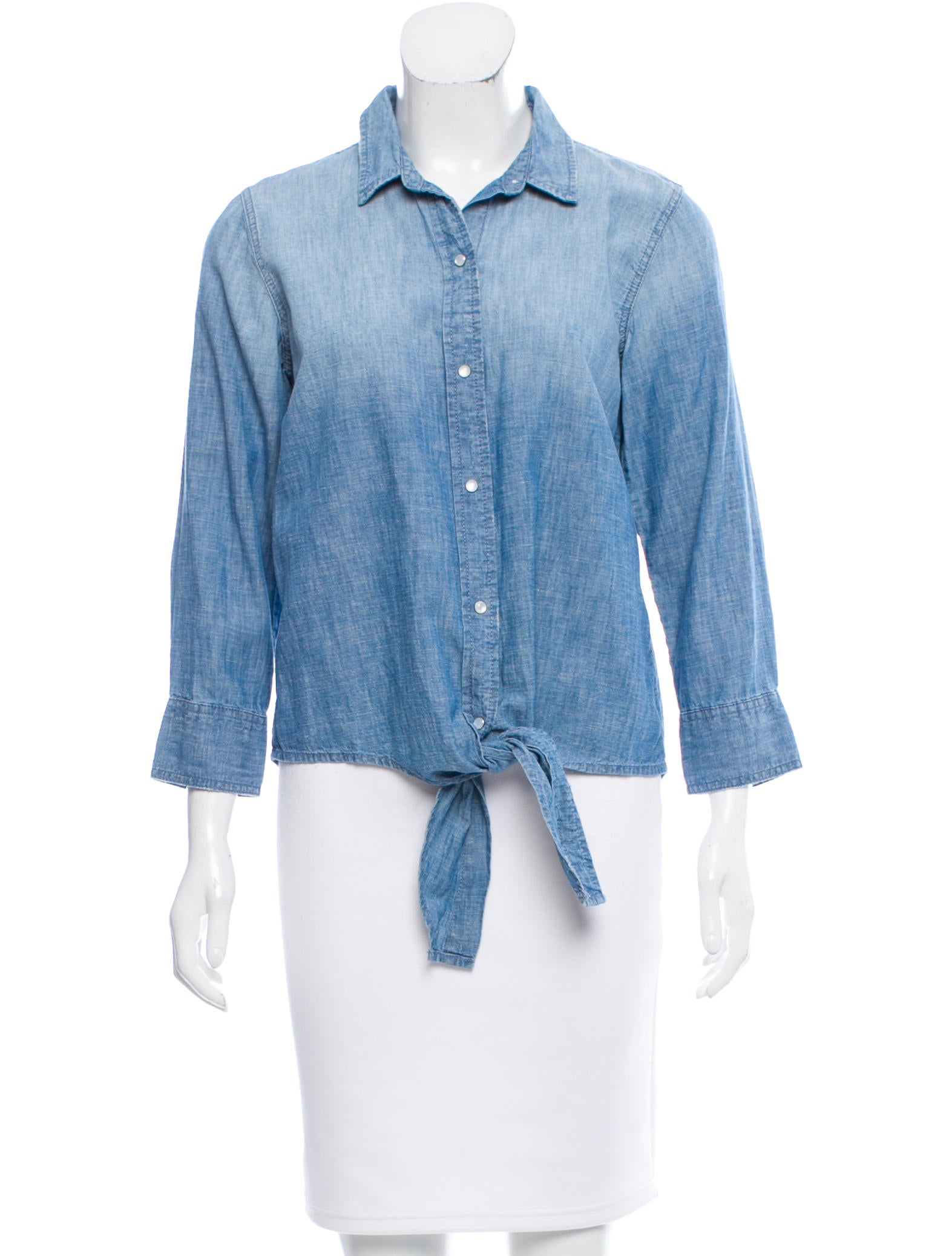 Current elliott chambray self tie top clothing for Chambray top